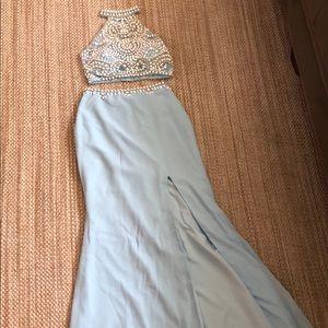 Dresses Light Blue 2 Piece Prom Dress Poshmark